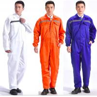 Buy cheap Breathable Flame Retardant Insulated Coveralls Anti - Wrinkle With Reflective Tape from wholesalers