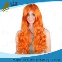 Buy cheap High Quality 100% Brazilian Virgin Human Hair Full Lace Wig Body Wave Orange Wig With Baby Hair from wholesalers