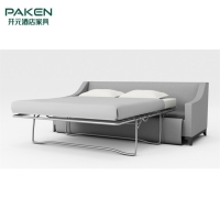 Buy cheap Three Two Seater Sofa Bed With Folding Metal Frame from wholesalers