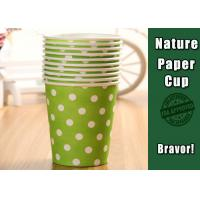 Buy cheap Eco Friendly Hot Liquid Paper Cups , PE Coated Thermal Paper Cups Dot Pattern from wholesalers