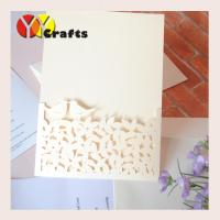 Buy cheap Pocket  Wedding Invitation Card Laser Lace Love Birds Design , Invitation Card Of Marriage from wholesalers
