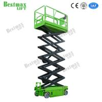 Buy cheap Electric Self Propelled Scissor Lift Hydraulic Lift Table 10m Working Height 230Kg from wholesalers