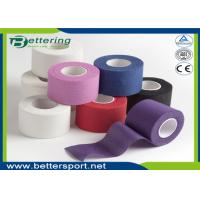 Buy cheap Non elastic Coloured Cotton sports strapping tape athletic gym tape from wholesalers