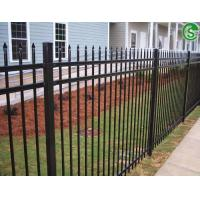 Buy cheap 6ft high 8ft wide decorative galvanized steel picket fencing for residential from wholesalers