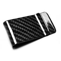 Buy cheap customized 3K carbon fiber money clip wallet, various color carbon fiber money clips, red from wholesalers