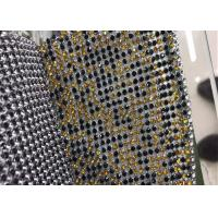 Buy cheap Multi Color Glitter Sequin Mesh Fabric Glass Rhinestone Aluminium For Clothing from wholesalers