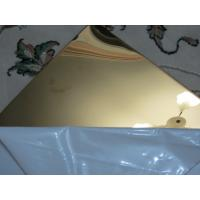 Buy cheap Gold color stainless steel sheet mirror finish 304 factory China supplier from Wholesalers
