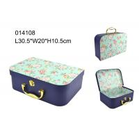 Buy cheap Elegant FSC Handmade Paper Packaging Box , Packaging Paper Box With Handle from wholesalers
