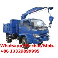 Buy cheap Foton 5ton dump truck with crane Tipper truck mounted 2t crane for sale! Best price forland dump tipper truck with crane from wholesalers