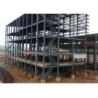 Shockproof Industrial Steel Structures Galvanized ASTM A36 Purlins / Girts Steel Framed Industrial Buildings
