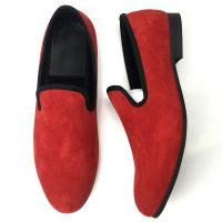 Buy cheap Different Color Mens Velvet Smoking Slippers , Men Business Casual Shoes from wholesalers