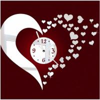 Buy cheap Acrylic mirror clock DIY mute clock Custom unique acrylic decorative wall clock lovely from wholesalers