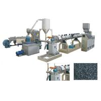 Buy cheap TSK75 PE PP Caco3 Parallel double screw extruder water ring pelletizing line/granulator from wholesalers
