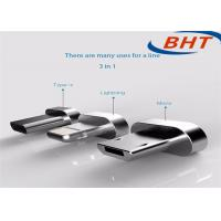 Buy cheap Smartphone Magnetic USB Cable 1in 3 Multi - Function Durable Aluminium Alloy product