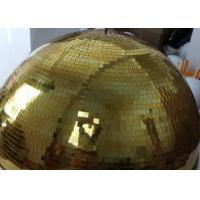China 120CM Golden Mirror Ball Disco Stage Lights Customize Color Crystal Magic Rotating Ball on sale