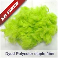 Buy cheap Spun-dyed recycled polyester staple fiber from wholesalers