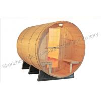Buy cheap Home sauna cabins , Weather resistant and cradles barrel steam sauna product