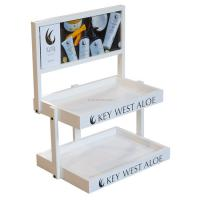 Buy cheap Wood Cosmetic Display Stand Counter Top Marketing Skin Care Products Display Stand from wholesalers