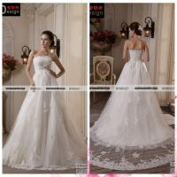 Buy cheap Real Sample Magnificent Wedding Gown Lace Applique and Beaded Wedding Dress from wholesalers