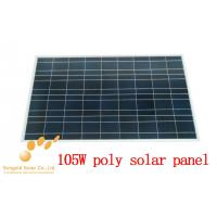 Buy cheap Poly Crystalline 105W 18V Solar Photovoltaic Panel product