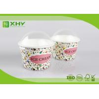 Buy cheap 8oz Custom Logo Printed Disposable Ice Cream Cups Containers with Dome Lids Food Grade Certificated from wholesalers