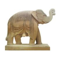 Buy cheap Outdoor Decoration Marble Stone Elephant Sculpture from wholesalers