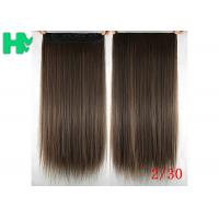 Buy cheap Long Silky straight Synthetic Hair Extensions Double Drawn Strong Hair Weaving from wholesalers