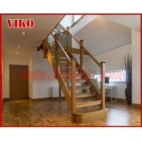 Buy cheap Solid Wood Staircase VK89S Beech Handrail Tread Beech ,Railing tempered glass, Handrail b eech Stringer,carbon from wholesalers