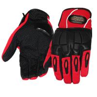 Leather work gloves with reflective strip