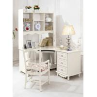 Buy cheap luxury modern white wood home office corner desk furniture from wholesalers