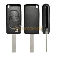 Buy cheap Blade with Groove 4 Buttons Flip Key Folding Remote Key Case from wholesalers
