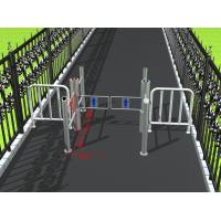 Buy cheap Intelligent access management pillar swing gate turnstile for public areas from wholesalers