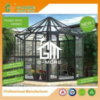 Buy cheap 320 X 283 X 275CM Dark Grey Color Easy Assembly Removable Aluminum Glasshouse from wholesalers