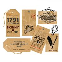 Buy cheap Die Cut Custom Garment Tags Full Color Attractive Handmade With Logo Slogan from wholesalers