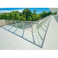 Buy cheap Stainless Steel Glass Stair Rails Parts, Tempered Glass Deck Railing from wholesalers