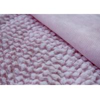 Buy cheap Anti - Static Cotton Sweater Knit Fabric , Pink Plush Fabric For Stuffed Animals from wholesalers