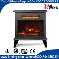 Buy cheap SF-1323 Freestanding Electric Fireplace Flame Heater chimenea electrica log Stoves infrared quartz tube electric heater from wholesalers