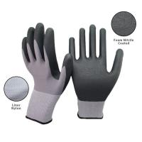 Buy cheap 15 Gauge Seamless Knit Nitrile Coated Work Gloves For Industrial Safety Work from wholesalers