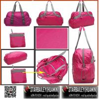 Buy cheap 420D nylon foladble tote hand bag-travel bag-fashinal luggage-gift promotional bag from wholesalers