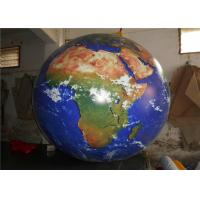 Buy cheap Large 0.2mm PVC Inflatable Advertising Signs / Blow Up Earth Ball from wholesalers