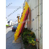 Buy cheap PVC Rigid Inflatable Boat , 4 Seams Stitching Hard Material Banana Boat from wholesalers