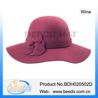 Buy cheap Hot selling women wide brim floppy hat from wholesalers