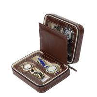 Buy cheap Luxury Watch Storage Case Zipper Closing , Watch Display Case Jewelry Decoration from wholesalers