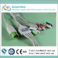 Buy cheap Spacelabs round 17 pin 5 lead ECG cable grabber clip end AHA standard product