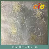 Buy cheap 60 G/M2 Polyester Material Home Textile Products Embroidered Voile Curtain Fabric product