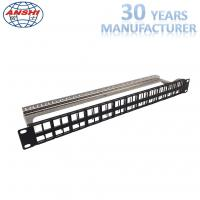 Buy cheap Rack Mount Patch Panel Unloaded 1U 48 Port 19 inch Shielded STP Patch Panel with Cable Management from wholesalers