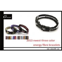 Buy cheap SOBON Anti-static Silicone Three Color Rope Infrared Energy Balace Braised Rope Bracelet from wholesalers