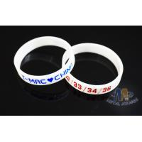 Buy cheap Multi Colored Custom Plastic Bracelets Embossed Silicone Wristbands For Events from wholesalers