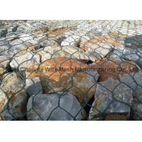 Buy cheap PVC Coated Galvanized Hexagonal Wire Netting For River Channel , Customize Gabion Stone Cages from wholesalers