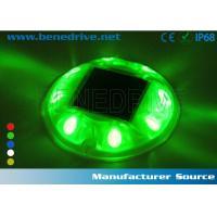 Round Plastic LED Road Studs Raised Pavement Markers 10 Ton Presure Resistance